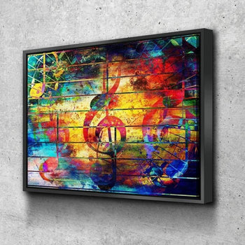 Abstract Musical Notes Canvas Set