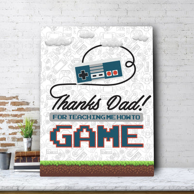 Gamer Dad Father's Day Canvas Set