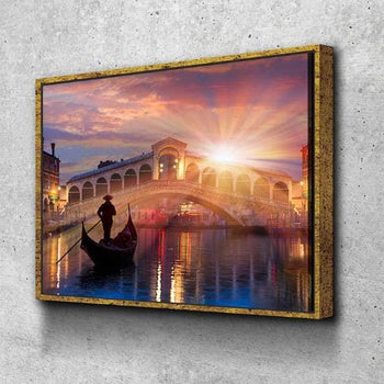 Gondola Italy Canvas Set