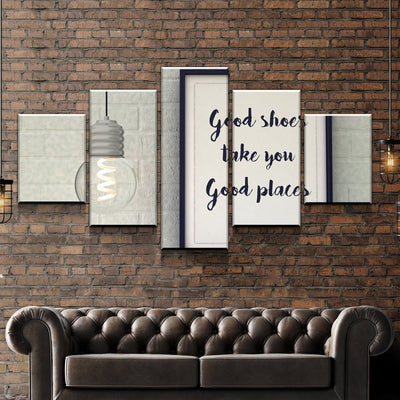 Good Shoes Good Places Canvas Set