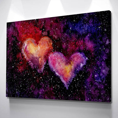 Hearts Nebula Canvas Set