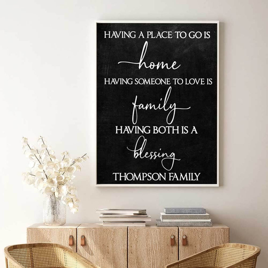 A Place to Call Home Custom Canvas Set
