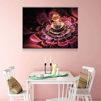 Illuminating Flower Canvas Set
