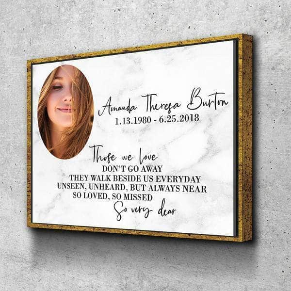 Those we Love Don't Go Away Custom Canvas Set
