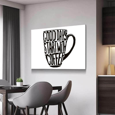 Start with Coffee Canvas Set