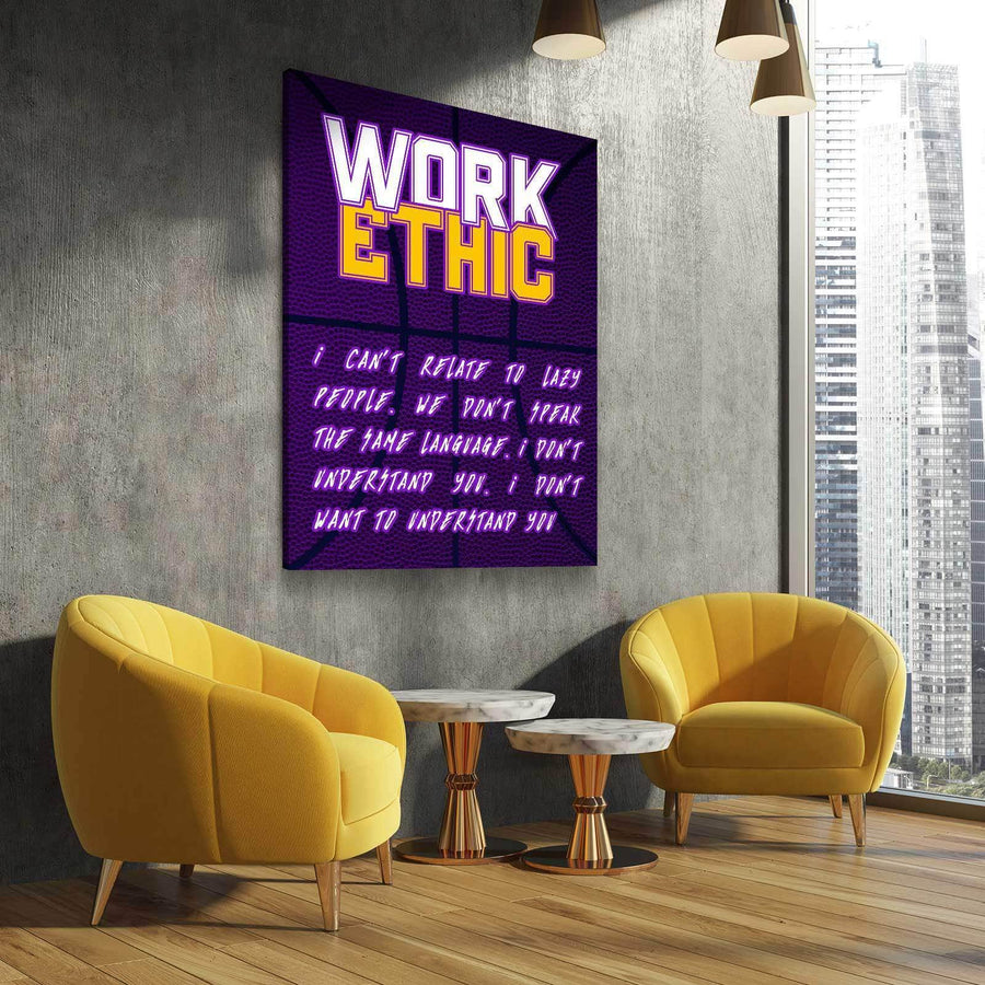 KB Work Ethic 2 Canvas Set - (PROCEEDS GO TO MAMBASPORTSFOUNDATION.ORG)