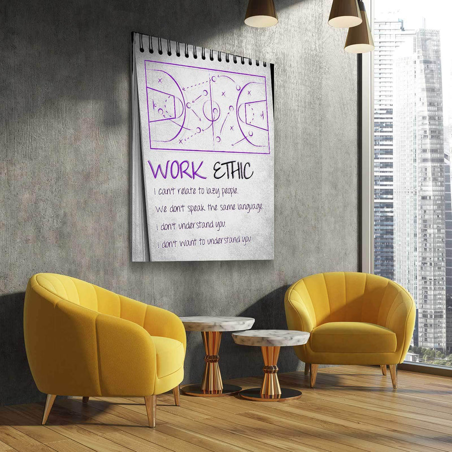 KB Work Ethic 3 Canvas Set - (PROCEEDS GO TO MAMBASPORTSFOUNDATION.ORG)
