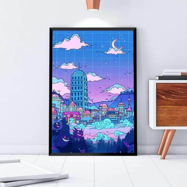 Lavender Town Canvas Set