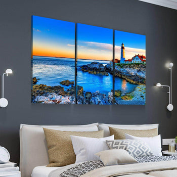 Lighthouse in the Distance Canvas Set
