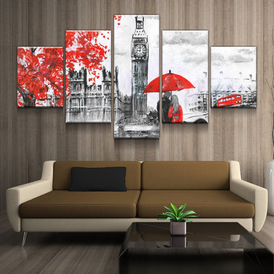 London Clock Tower Canvas Set