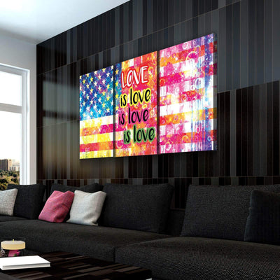 Love is Love American Flag Canvas Set