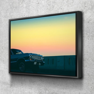 Lowrider Sunset Canvas Set