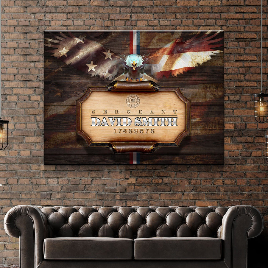 Custom Personalized Armed Forces Canvas Set