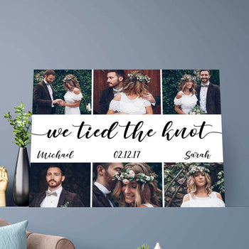 We Tied the Knot Custom Canvas Set