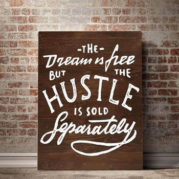 Hustle Sold Separately  Canvas Set