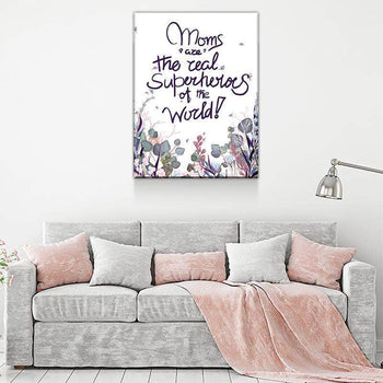Superhero Mom Canvas Set