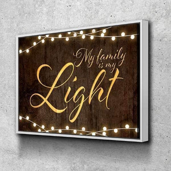 My Family Is My Light Canvas Set