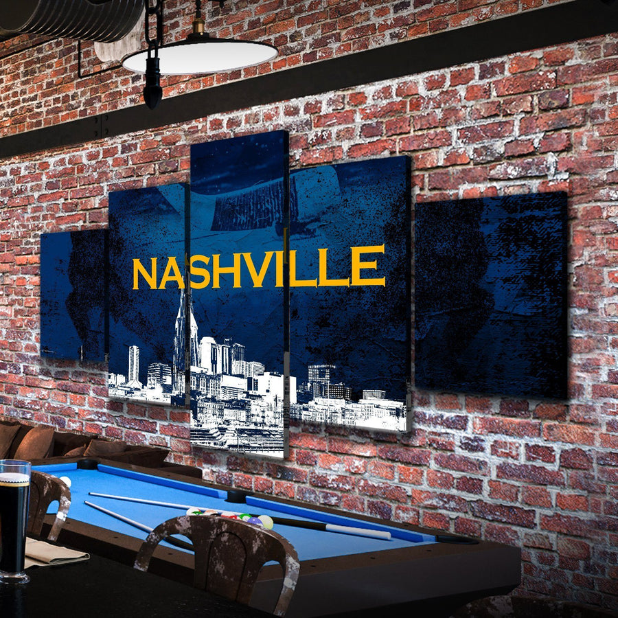 Nashville Hockey Canvas Set