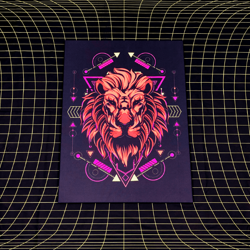 Neonic Lion Lucid Light Wall Art