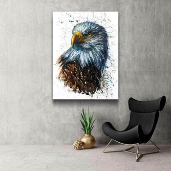 Watercolor American Eagle Canvas Set