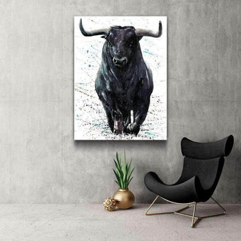 Black Bull Canvas Set