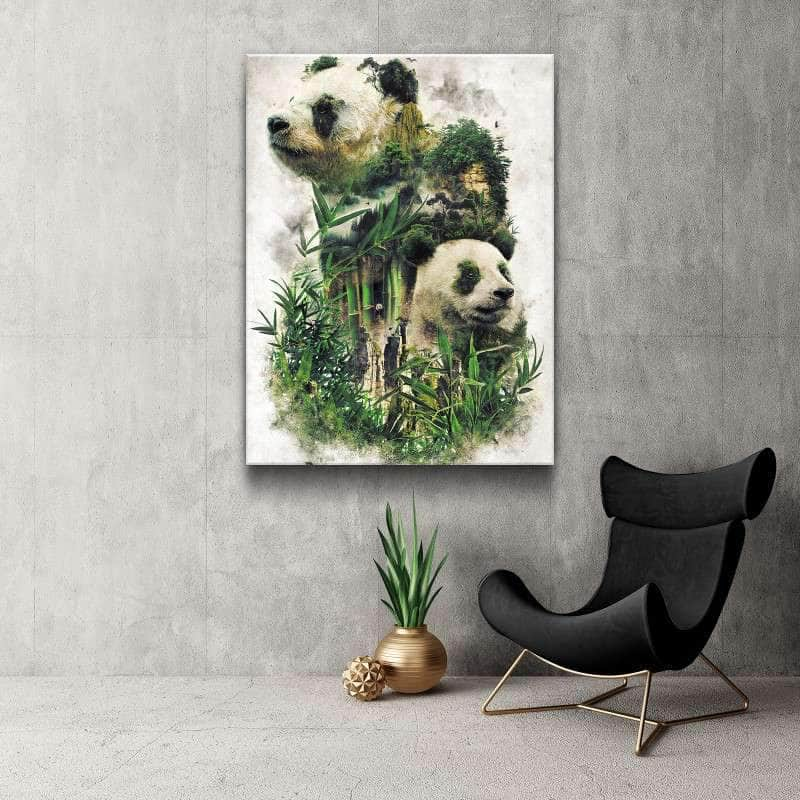 Surreal Pandas Canvas Set