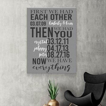 First we Had Each Other Custom Canvas Set