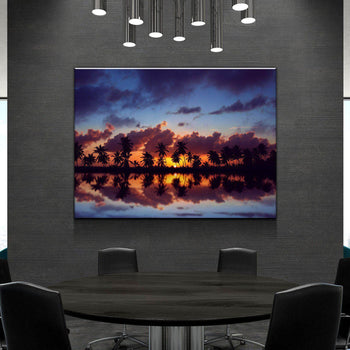 Palm Reflections Canvas Set