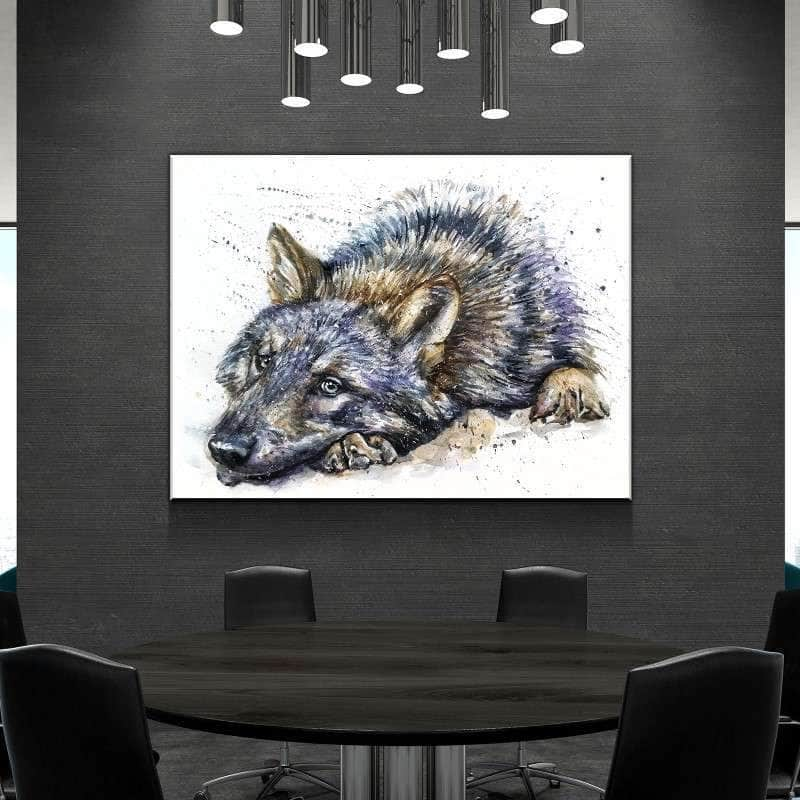 Relaxing Wolf Canvas Set