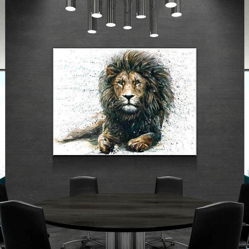 Watercolor Lion Canvas Set