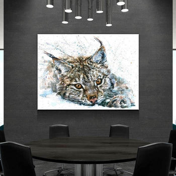 Gazing Lynx Canvas Set