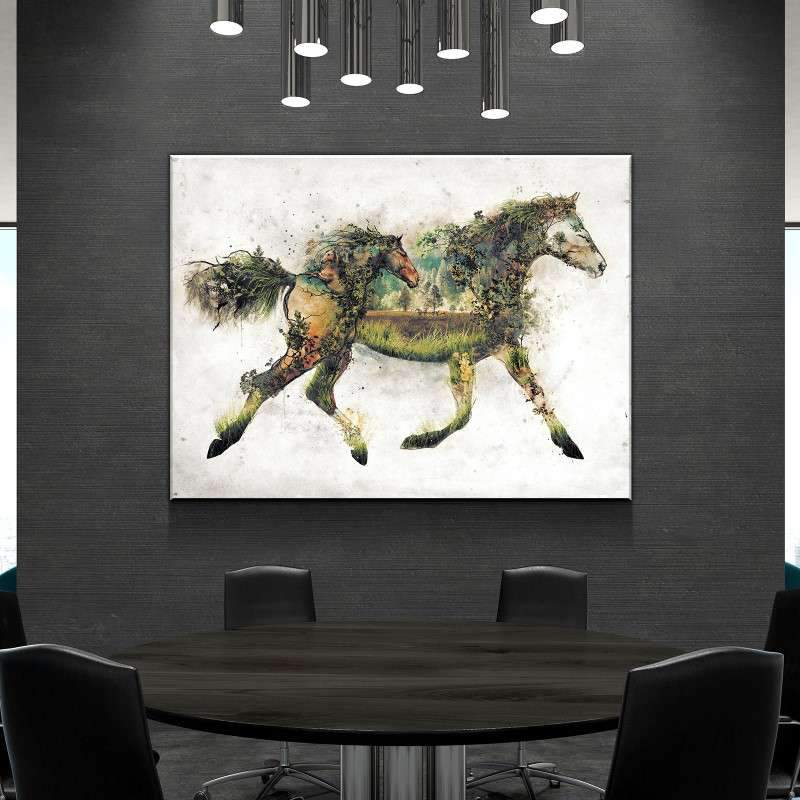 Surreal Horse Canvas Set