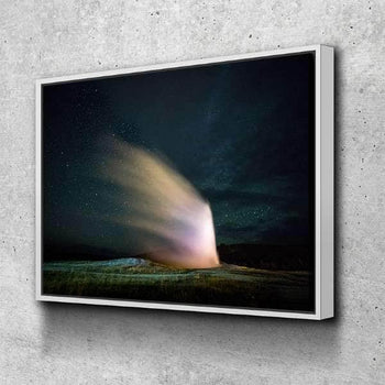 Old Faithful At Night Canvas Set