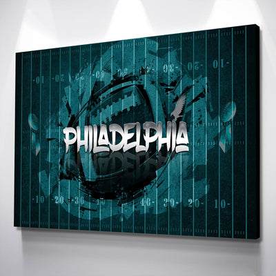 Philadelphia Football Canvas Set