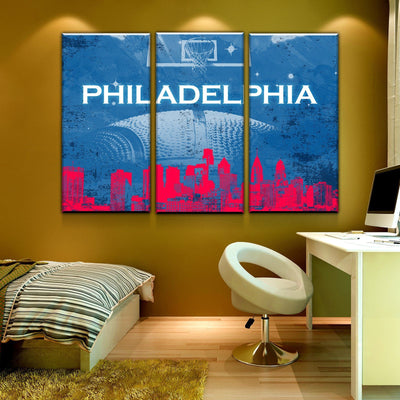 Philadelphia Basketball Canvas Set