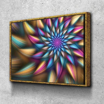 Prismatic Spiral Canvas Set