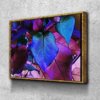Purple and Blue Leaves Canvas Set