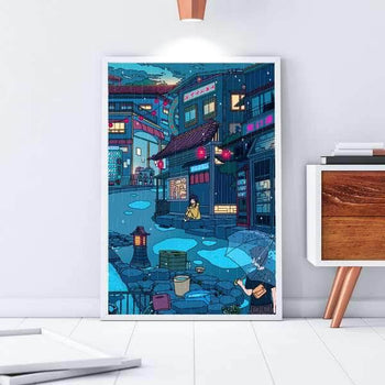 Rainy Day Encounter Canvas Set