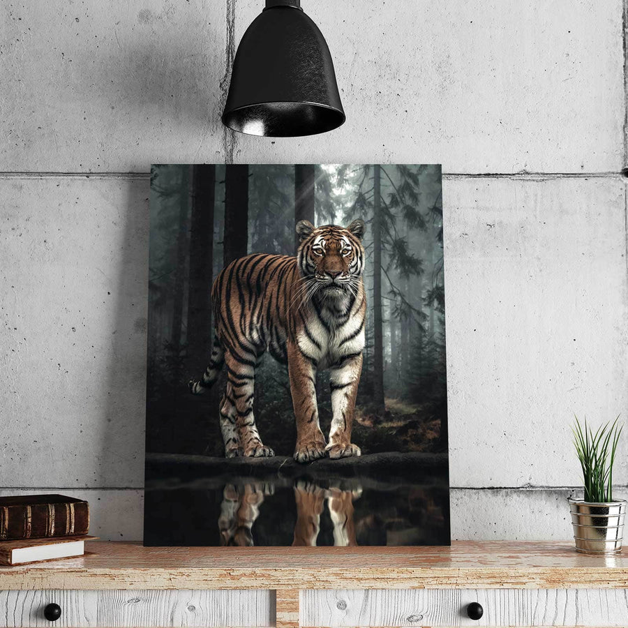 Tiger Reflection Canvas Set