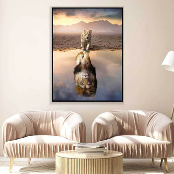 Lion Reflection Canvas Set
