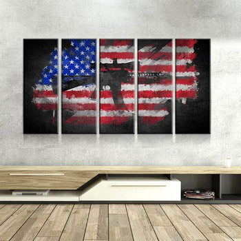 Rifle Flag Canvas Set