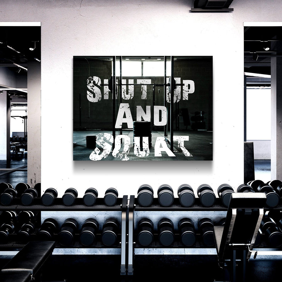 Shut Up and Squat Canvas Set