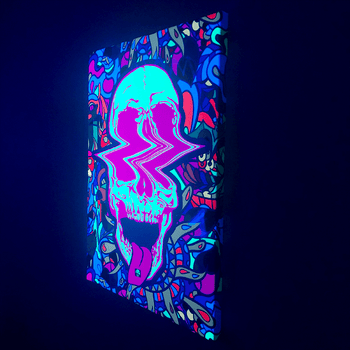 Skull Tabs Lucid Light Wall Art