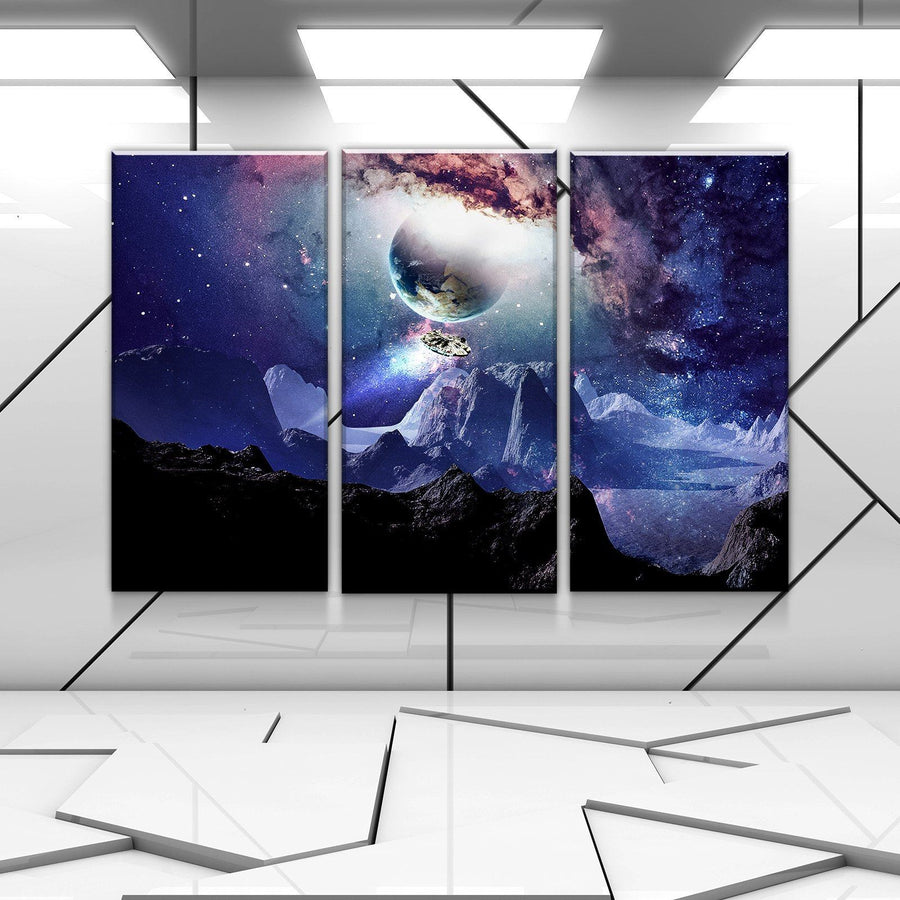 Space Falcon Canvas Set
