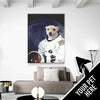 Space Animals Custom Pet Canvas Set