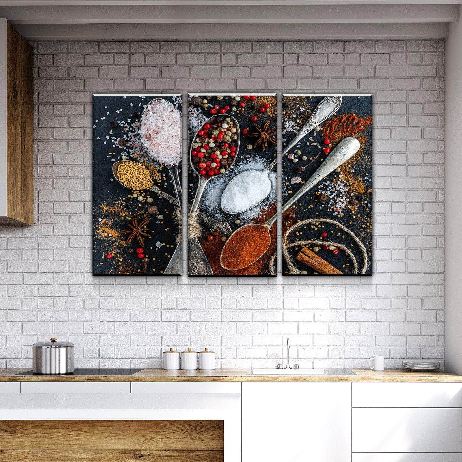 Spices and life kitchen and dining room wall decor canvas set canvas freaks