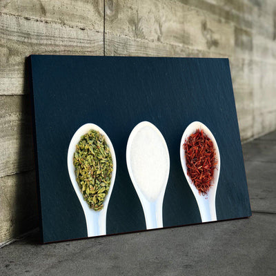 Spoon Spices Kitchen and Dining Room Wall Decor Canvas Set