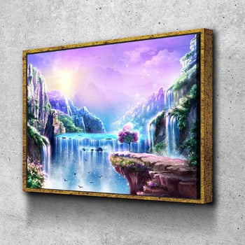 Stardust Waterfall Canvas Set