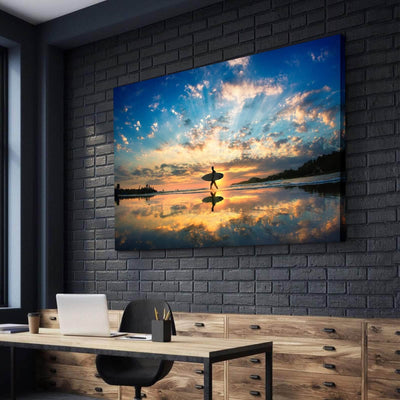 Surfers Sunset Canvas Set