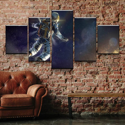 Surreal Astronaut Canvas Set